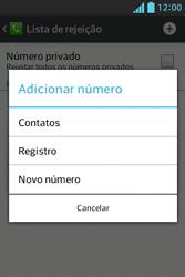 Como bloquear chamadas de um número específico - LG Optimus L5 - Passo 8