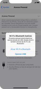 Como usar seu aparelho como um roteador de rede Wi-Fi - Apple iPhone X - Passo 6