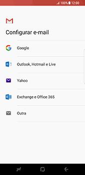 Como configurar seu celular para receber e enviar e-mails - Samsung Galaxy S8 - Passo 8