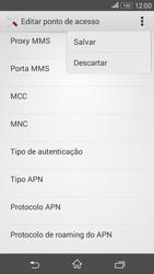 Como configurar a internet do seu aparelho (APN) - Sony Xperia E4G - Passo 15