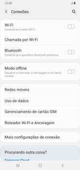 Como ativar e desativar o roaming de dados - Samsung Galaxy A10 - Passo 4