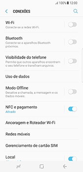 Como configurar a internet do seu aparelho (APN) - Samsung Galaxy S8 - Passo 6