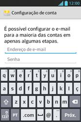 Como configurar seu celular para receber e enviar e-mails - LG Optimus L5 - Passo 6