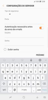 Como configurar seu celular para receber e enviar e-mails - Samsung Galaxy S9 Plus - Passo 14