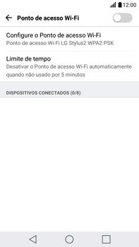Como usar seu aparelho como um roteador de rede Wi-Fi - LG G5 Stylus - Passo 4
