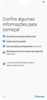 Como configurar pela primeira vez - Samsung Galaxy A10 - Passo 5