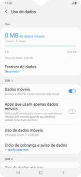 Como ativar e desativar uma rede de dados - Samsung Galaxy A20 - Passo 5