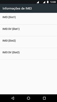 Como encontrar o número de IMEI do seu aparelho - Motorola Moto Z2 Play - Passo 6