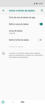 Como definir um aviso e limite de uso de dados - Motorola One Action - Passo 8