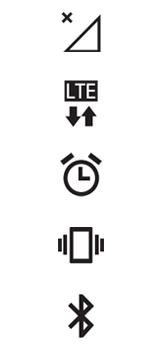 Explicação dos ícones - LG K40S - Passo 1