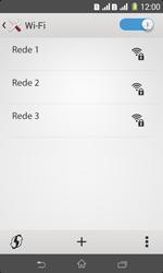 Como configurar uma rede Wi-Fi - Sony Xperia E1 - Passo 5