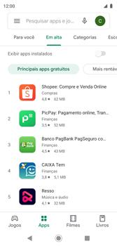Como baixar aplicativos - Motorola Moto G7 Play - Passo 6