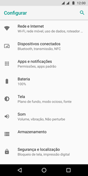 Como configurar a internet do seu aparelho (APN) - Motorola Moto G6 Plus - Passo 3