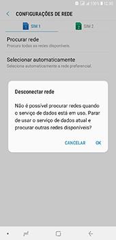 Como selecionar o tipo de rede adequada - Samsung Galaxy J8 - Passo 8