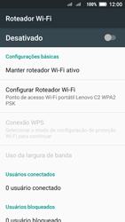 Como usar seu aparelho como um roteador de rede Wi-Fi - Lenovo Vibe C2 - Passo 6