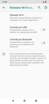 Como usar seu aparelho como um roteador de rede Wi-Fi - Motorola Moto G7 Power - Passo 5