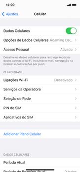 Como ativar e desativar o roaming de dados - Apple iPhone 11 Pro - Passo 3