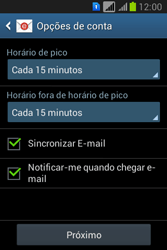 Como configurar seu celular para receber e enviar e-mails - Samsung Galaxy Young - Passo 18