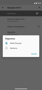 Como usar seu aparelho como um roteador de rede Wi-Fi - Motorola Moto G8 Power - Passo 9