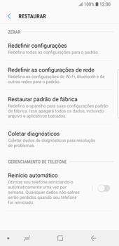 Como restaurar as configurações originais do seu aparelho - Samsung Galaxy S9 - Passo 6