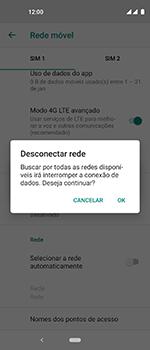 Como selecionar o tipo de rede adequada - Motorola One Vision - Passo 8