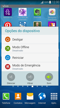 Como reiniciar o aparelho - Samsung Galaxy Note - Passo 3