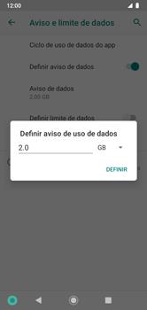Como definir um aviso e limite de uso de dados - Motorola Moto G7 Power - Passo 10