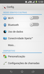 Como ativar e desativar o modo avião no seu aparelho - Sony Xperia E1 - Passo 3
