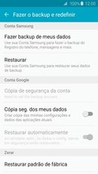 Como restaurar as configurações originais do seu aparelho - Samsung Galaxy S6 - Passo 5