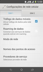Como ativar e desativar uma rede de dados - Sony Xperia E1 - Passo 6