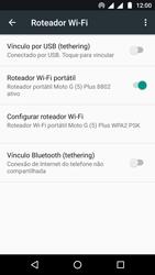 Como usar seu aparelho como um roteador de rede Wi-Fi - Motorola Moto G5 - Passo 9