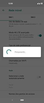 Como selecionar o tipo de rede adequada - Motorola One Vision - Passo 9