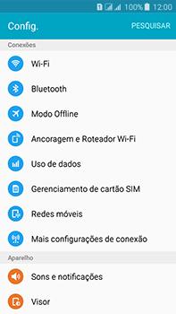 Como ativar e desativar o modo avião no seu aparelho - Samsung Galaxy J7 - Passo 3