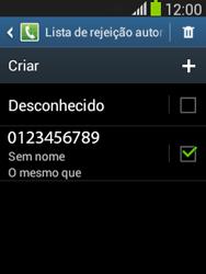Como bloquear chamadas de um número específico - Samsung Galaxy Pocket - Passo 13
