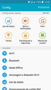 Como configurar uma rede Wi-Fi - Samsung Galaxy J7 - Passo 3