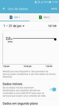 Como ativar e desativar uma rede de dados - Samsung Galaxy On 7 - Passo 4