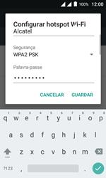 Como usar seu aparelho como um roteador de rede Wi-Fi - Alcatel Pixi 4 - Passo 8