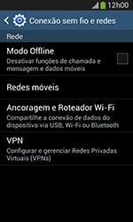 Como usar seu aparelho como um roteador de rede Wi-Fi - Samsung Galaxy Grand Neo - Passo 4