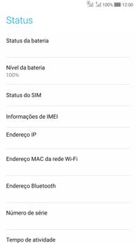 Como encontrar o número de IMEI do seu aparelho - Asus Zenfone Selfie - Passo 5