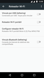 Como usar seu aparelho como um roteador de rede Wi-Fi - Motorola Moto G5 - Passo 5