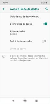 Como definir um aviso e limite de uso de dados - Motorola Moto G7 - Passo 11