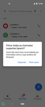 Como bloquear chamadas de um número específico - Motorola One Action - Passo 7