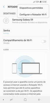 Como usar seu aparelho como um roteador de rede Wi-Fi - Samsung Galaxy S9 - Passo 8