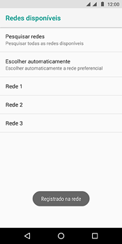 Como selecionar o tipo de rede adequada - Motorola Moto E5 - Passo 11