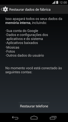Como restaurar as configurações originais do seu aparelho - Motorola Moto X (2ª Geração) - Passo 6