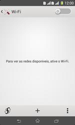 Como configurar uma rede Wi-Fi - Sony Xperia E1 - Passo 4