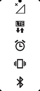 Explicação dos ícones - LG Velvet 5G - Passo 1