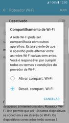 Como usar seu aparelho como um roteador de rede Wi-Fi - Samsung Galaxy S7 Edge - Passo 5