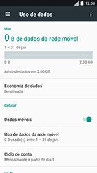 Como ativar e desativar uma rede de dados - Motorola Moto C Plus - Passo 4