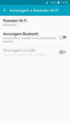 Como usar seu aparelho como um roteador de rede Wi-Fi - Samsung Galaxy S6 - Passo 4